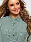 Блузка прямого силуэта с нагрудным карманом oodji #SECTION_NAME# (зеленый), 11411134B/46123/6E12G - вид 4