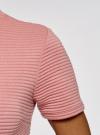 Платье из фактурной ткани с расклешенным низом oodji #SECTION_NAME# (розовый), 14011021/46895/4B00N - вид 5
