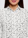 Блузка прямого силуэта с нагрудным карманом oodji #SECTION_NAME# (белый), 11411134B/48853/1229O - вид 4