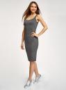 Платье-майка трикотажное oodji для женщины (серый), 14015007-8B/46944/2501M