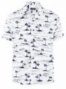 Рубашка принтованная с коротким рукавом oodji #SECTION_NAME# (белый), 3L400004M/48205N/1075G