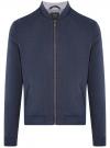 Куртка-бомбер на молнии с воротником-стойкой oodji #SECTION_NAME# (синий), 1L514018M/49186N/7900N
