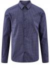 Рубашка базовая из хлопка  oodji для мужчины (синий), 3B110026M/19370N/7910G