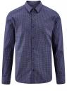 Рубашка базовая из хлопка  oodji #SECTION_NAME# (синий), 3B110026M/19370N/7910G