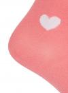 Комплект из трех пар хлопковых носков oodji #SECTION_NAME# (розовый), 57102705T3/48022/17 - вид 4