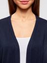Кардиган без застежки с карманами oodji #SECTION_NAME# (синий), 63212589/24526/7900N - вид 4