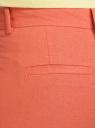 Брюки льняные прямые oodji #SECTION_NAME# (оранжевый), 21701092/16009/5900N - вид 4