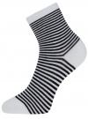 Носки базовые хлопковые oodji #SECTION_NAME# (белый), 57102466B/47469/1029S - вид 2