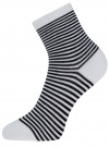 Носки базовые хлопковые oodji для женщины (белый), 57102466B/47469/1029S - вид 2