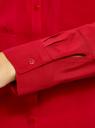 Блузка базовая из вискозы с карманами oodji #SECTION_NAME# (красный), 11400355-4/26346/4500N - вид 5
