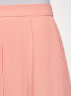 Юбка в складку из струящейся ткани oodji #SECTION_NAME# (розовый), 23G00009-2B/45193/4B00N - вид 4