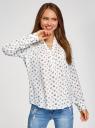 Блузка вискозная прямого силуэта oodji #SECTION_NAME# (белый), 21400394-1B/24681/1229O - вид 2