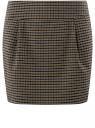 Юбка короткая с карманами oodji #SECTION_NAME# (коричневый), 11605056-3/45839/2931C