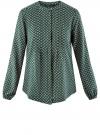 Блузка вискозная с отстрочками на груди oodji #SECTION_NAME# (зеленый), 21411121/47075N/6D12E