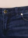 Джинсы укороченные с потертостями oodji для женщины (синий), 12103155/43322/7900W