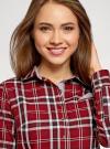 Рубашка принтованная хлопковая oodji #SECTION_NAME# (красный), 11406019/43593/4529C - вид 4