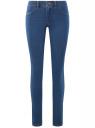Джинсы базовые skinny oodji для женщины (синий), 12104060-1B/46250/7500W