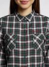Рубашка в клетку с карманами oodji #SECTION_NAME# (зеленый), 11400433-1/43223/6E12C - вид 4