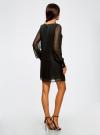 Платье прямого силуэта из струящейся ткани oodji #SECTION_NAME# (черный), 11900150-13/13632/2900N - вид 3