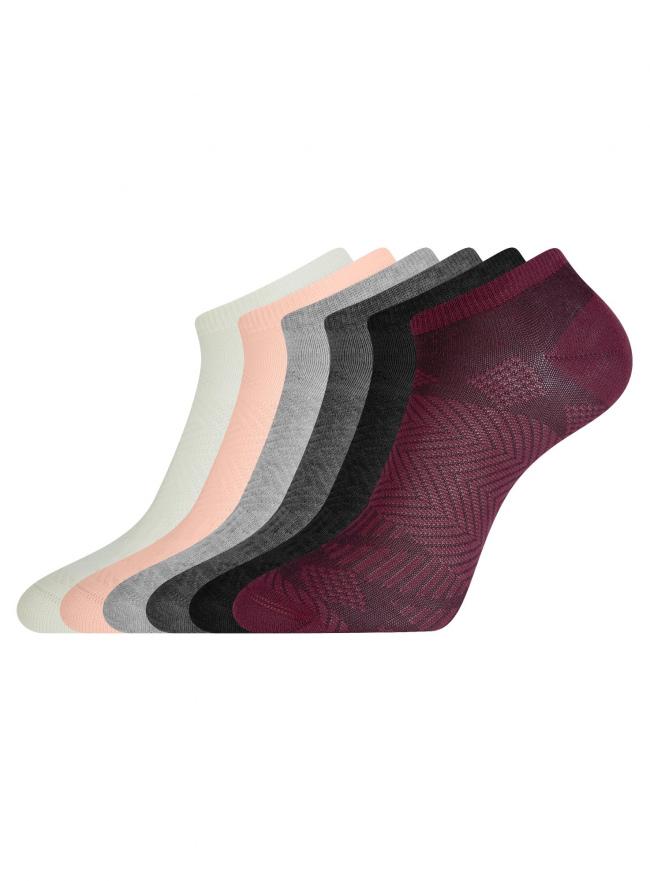 Комплект из шести пар носков oodji для женщины (разноцветный), 57102433-1T6/48022/3