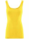 Майка базовая oodji для женщины (желтый), 14315001B/45307/5100N