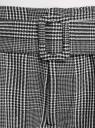 Шорты-трапеция с поясом oodji для женщины (серый), 11802114/49416/2912C