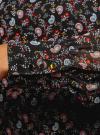 Платье прямого силуэта из струящейся ткани oodji #SECTION_NAME# (черный), 11900150-13/13632/2945E - вид 5
