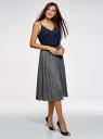 Топ в бельевом стиле с кружевной отделкой oodji для женщины (синий), 14911004-1B/45193/7900N