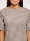 Платье из хлопка прямого силуэта oodji #SECTION_NAME# (коричневый), 11901159-1/47875/3710S - вид 4