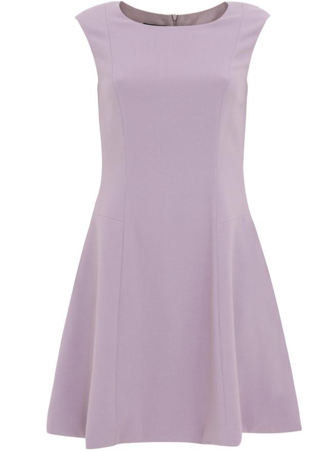 Платье из плотной ткани с овальным вырезом oodji для женщины (фиолетовый), 11907004-1/42793/8000N
