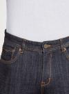 Джинсы slim базовые oodji для мужчины (синий), 6L120141M/46627/7800W - вид 4