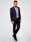 Пиджак приталенного силуэта на пуговице oodji #SECTION_NAME# (синий), 2L410201M/47076N/7900O - вид 6