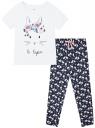Пижама хлопковая с брюками oodji для женщины (белый), 56002200-6/46154/1079P