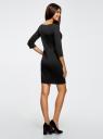 Платье трикотажное из фактурной ткани oodji #SECTION_NAME# (черный), 24001100-6/45351/2900N - вид 3