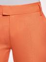 Брюки льняные укороченные oodji #SECTION_NAME# (оранжевый), 21701092B/16009/5400N - вид 4
