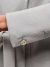 Пальто с поясом и асимметричной застежкой oodji для женщины (серый), 10104041-2/43442/2000M - вид 5