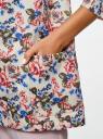 Жакет без застежки с накладными карманами oodji #SECTION_NAME# (разноцветный), 21204047/42526/1270F - вид 5