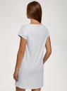Платье домашнее с принтом oodji для женщины (серый), 59801006-24/46154/2029Z