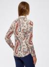 """Рубашка хлопковая с принтом """"пейсли"""" oodji #SECTION_NAME# (слоновая кость), 21402212-1/45966/3045E - вид 3"""
