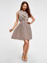 Платье из струящейся ткани с жабо oodji #SECTION_NAME# (розовый), 21913018/36215/5412E - вид 2