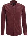 Рубашка slim из вельвета oodji #SECTION_NAME# (красный), 3L110218M/44424N/4900N