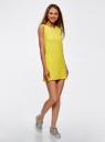 Платье из ткани пике oodji #SECTION_NAME# (желтый), 14005074-1/45602/5200N - вид 6