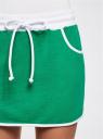 Юбка трикотажная спортивная oodji для женщины (зеленый), 16801025-2B/46155/6D00N