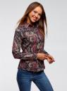 """Рубашка хлопковая с принтом """"пейсли"""" oodji #SECTION_NAME# (разноцветный), 21402212-1/45966/2966E - вид 2"""