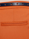 Брюки-чиносы с перфорированным звездами ремнем oodji #SECTION_NAME# (оранжевый), 11706190-3/43526/5900N