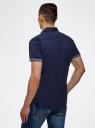 Рубашка приталенная принтованная oodji #SECTION_NAME# (синий), 3L410098M/39312N/7975G - вид 3