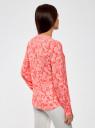 Блузка вискозная прямого силуэта oodji #SECTION_NAME# (красный), 21400394-1B/24681/4312E - вид 3
