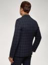 Пиджак прямого силуэта в клетку oodji для мужчины (синий), 2L420284M-1/50209N/7962C