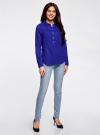 Рубашка хлопковая свободного силуэта oodji #SECTION_NAME# (синий), 11411101B/45561/7500N - вид 6