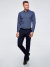 Рубашка принтованная приталенного силуэта oodji #SECTION_NAME# (синий), 3L110228M/19370N/7975G - вид 6